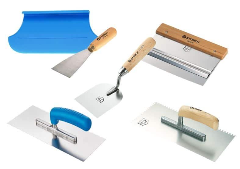 Verlegewerkzeuge, Spachtel und Glätter